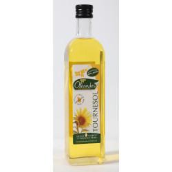 """Bouteille d'huile de tournesol 1ère pression à  froid """"Oléandes"""" 75 cl"""