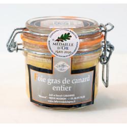 """Foie Gras Entier de canard en conserve """"Médaille d'Or  CGA Paris 2020""""- bocal..."""