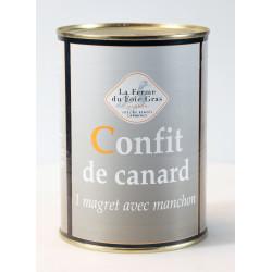 Confit de canard - 1 magret - boîte 700 g.