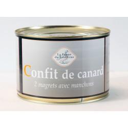 Confit de canard - 2 magrets - boîte 1400 g.