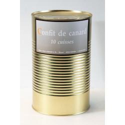 Confit de canard - 10 cuisses - boîte 4500 g.