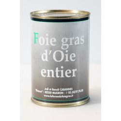 Foie Gras Entier d'oie en conserve - boîte 370 g.