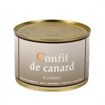 Confit de canard - 4 cuisses - boîte 1400 g.