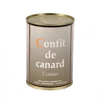 Confit de canard - 2 cuisses - boîte 750 g.