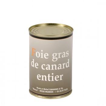 Foie Gras Entier de canard en conserve - Médaille d'Argent 2018 - boîte 370 g.