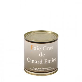 Foie Gras Entier de canard en conserve - Médaille d'Argent 2018- boîte 250 g.