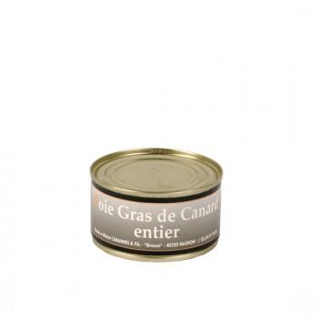 Foie Gras Entier de canard en conserve - Médaille d'Argent 2018- boîte 125 g.