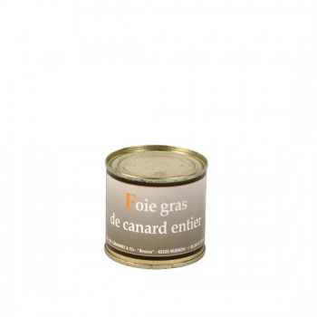 Foie Gras Entier de canard en conserve -Médaille d'Argent 2018-  boîte 100 g.