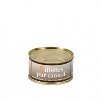Rillettes pur canard - boîte 200 g.