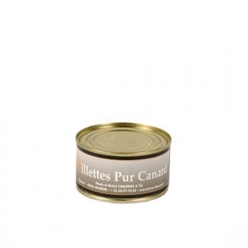 Rillettes pur canard - boîte 130 g.