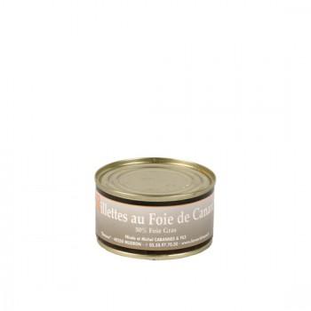 Rillettes au foie gras 50 % Foie Gras - boite 130 g.