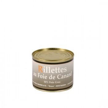 Rillettes au foie gras 50 % Foie Gras - boîte 190 g.