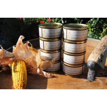 Rillettes pur canard au Piment d'Espelette - boite 130 g.