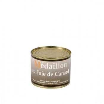 Médaillon de foie de canard  50 % foie gras - boîte 190 g.
