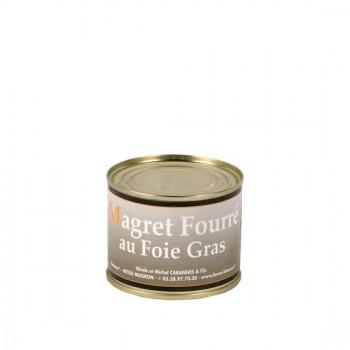 Magret fourré au foie gras - boîte 200 g.