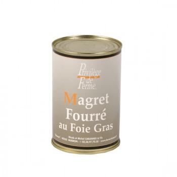 Magret fourré au foie gras - boîte de 400 g.