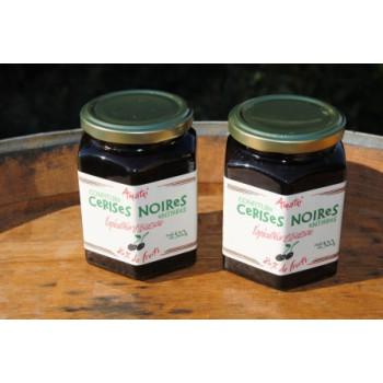 Confiture cerise noire Itxassou - bocal 320 g.