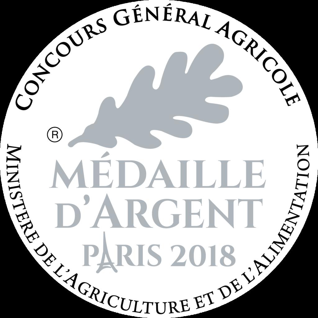 Médaille d'Argent Paris 2018