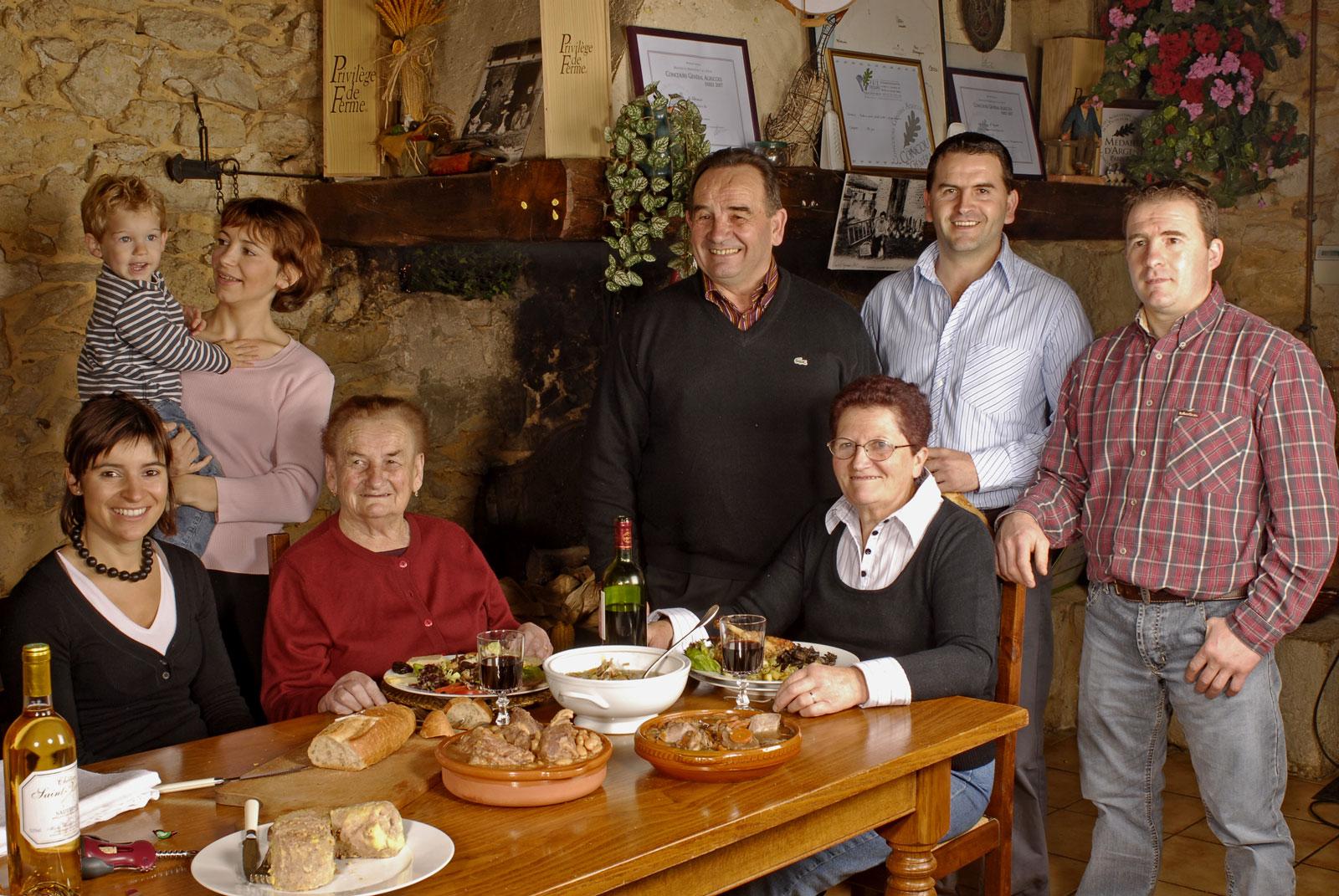 La famille Cabannes de la ferme Birouca